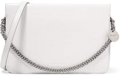 Cross3 Two-tone Textured-leather And Suede Shoulder Bag - White