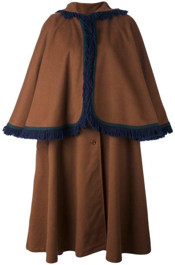 Pre-Owned cape sleeve coat