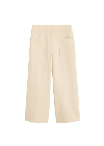 MANGO Pocket linen-blend trousers