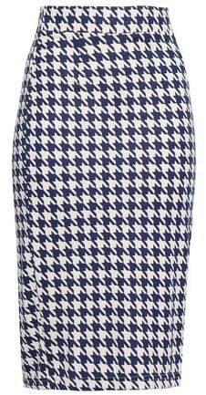 Jaycee Houndstooth Stretch-jersey Pencil Skirt
