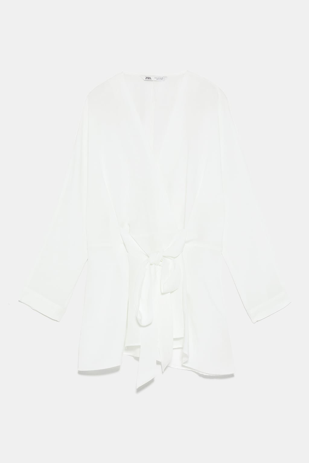 BLOUSE WITH TIE - View All-SHIRTS | BLOUSES-WOMAN | ZARA United States white
