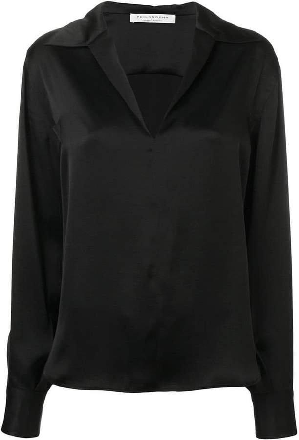 open neck blouse
