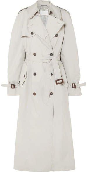 Cotton-blend Trench Coat - Beige