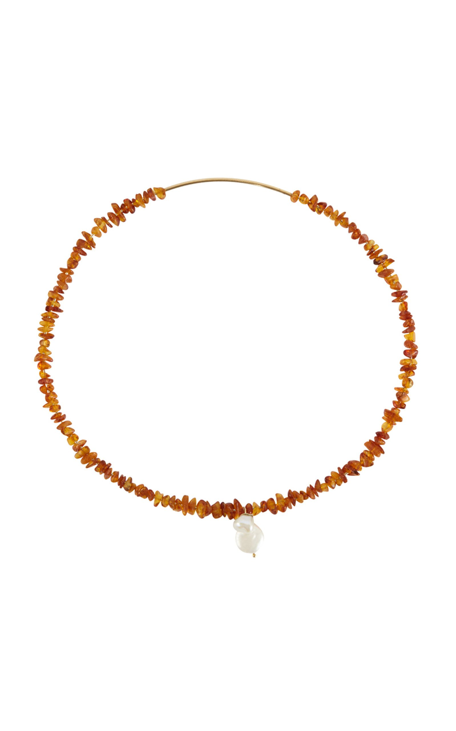 Holly Ryan Amber Choker with Pearl Detail