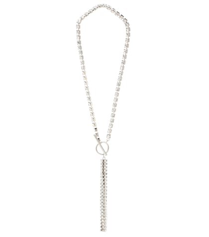 Collier crystal-embellished necklace