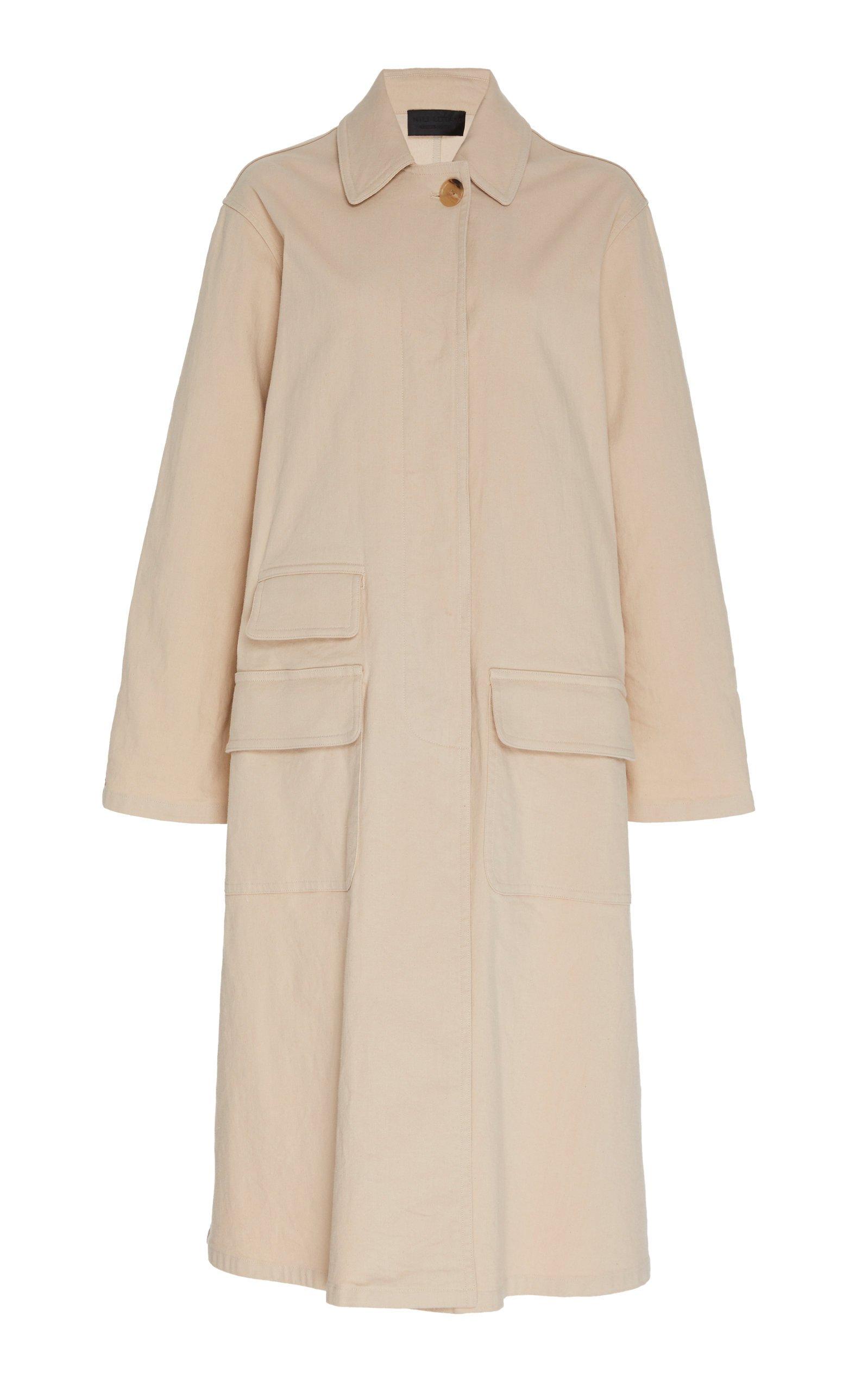 NILI LOTAN Samuel Cotton-Blend Duster Coat Size: L