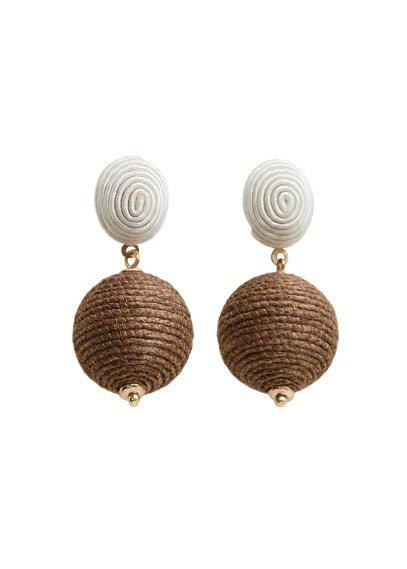 MANGO Jute earrings