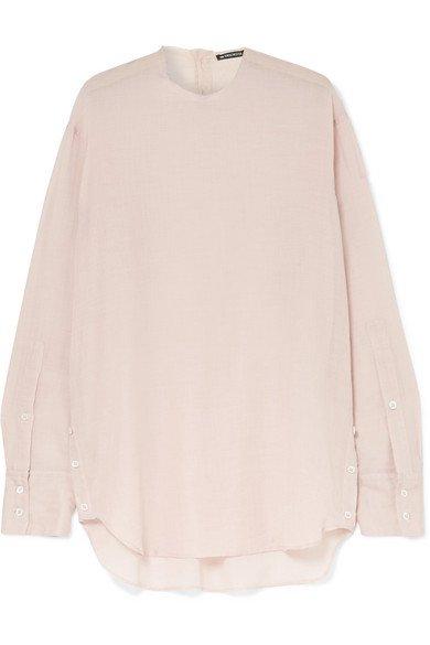 Ann Demeulemeester | Oversized cotton and cashmere-blend blouse | NET-A-PORTER.COM