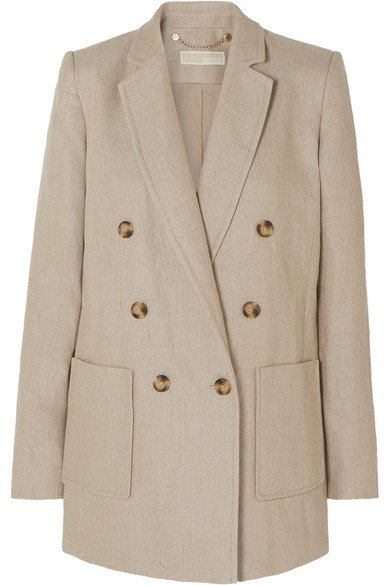 MICHAEL Michael Kors | Double-breasted linen blazer | NET-A-PORTER.COM