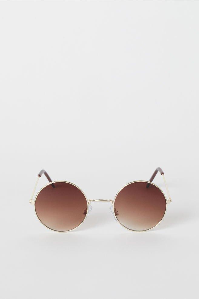 Round sunglasses - Gold-coloured - | H&M GB