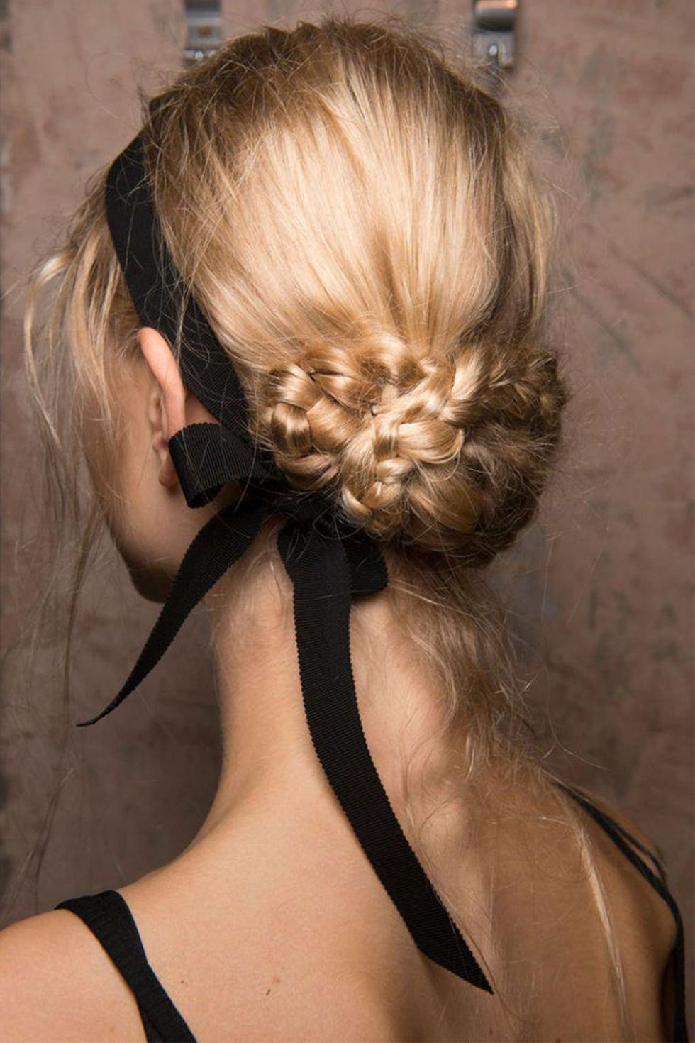Hair Bow Ideas - Black Ribbon In Hair Inspiration