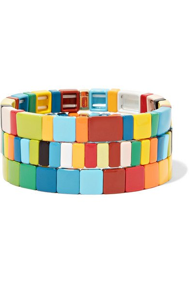 Roxanne Assoulin | Rainbow Brite set of three enamel bracelets | NET-A-PORTER.COM