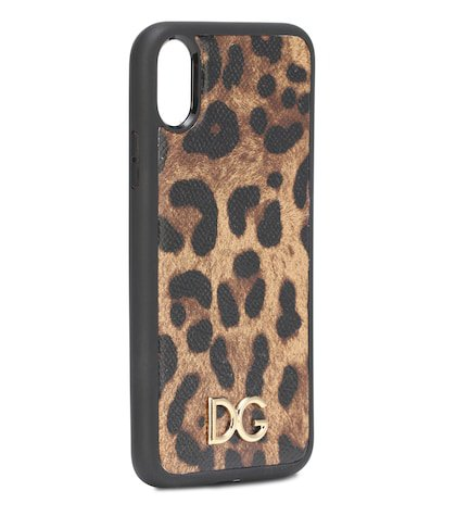 Printed leather iPhone X case