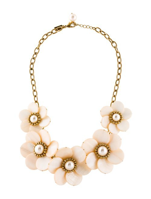 Kate Spade New York Garden Party Floral Necklace - Necklaces - WKA105485 | The RealReal