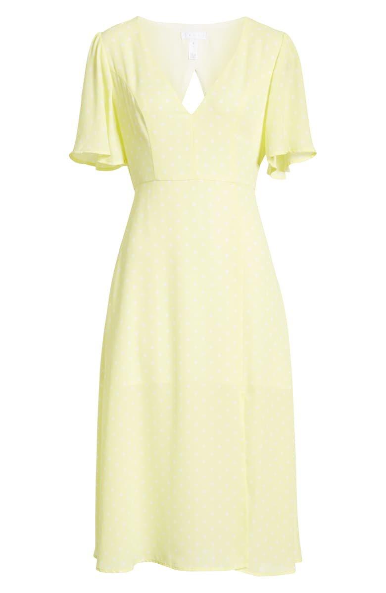 Leith Flutter Sleeve Midi Dress | Nordstrom