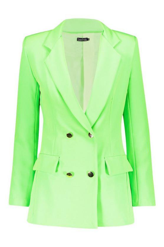 Neon Double Breasted Blazer | Boohoo