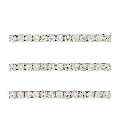 Set of 3 crystal bobby pins