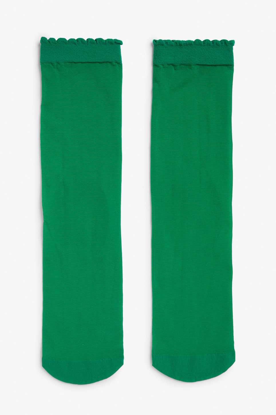 Sleek socks - Four leaf clover green - Socks & Tights - Monki GB