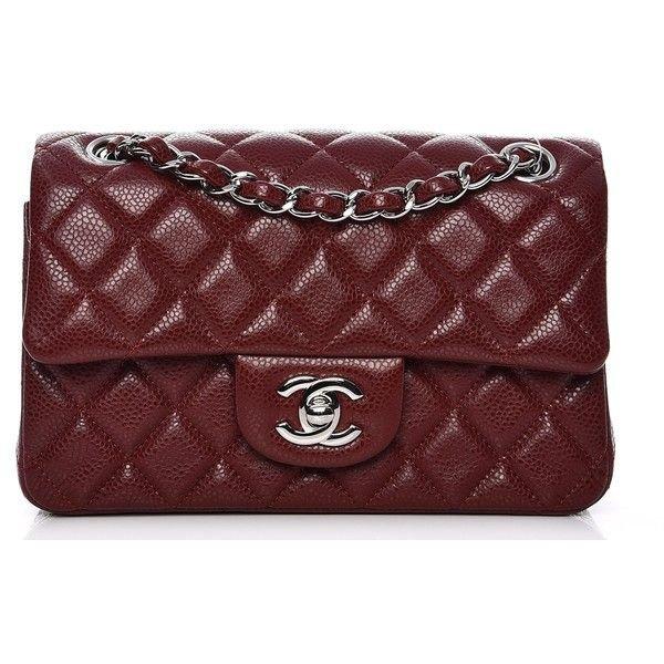 Dark red purse