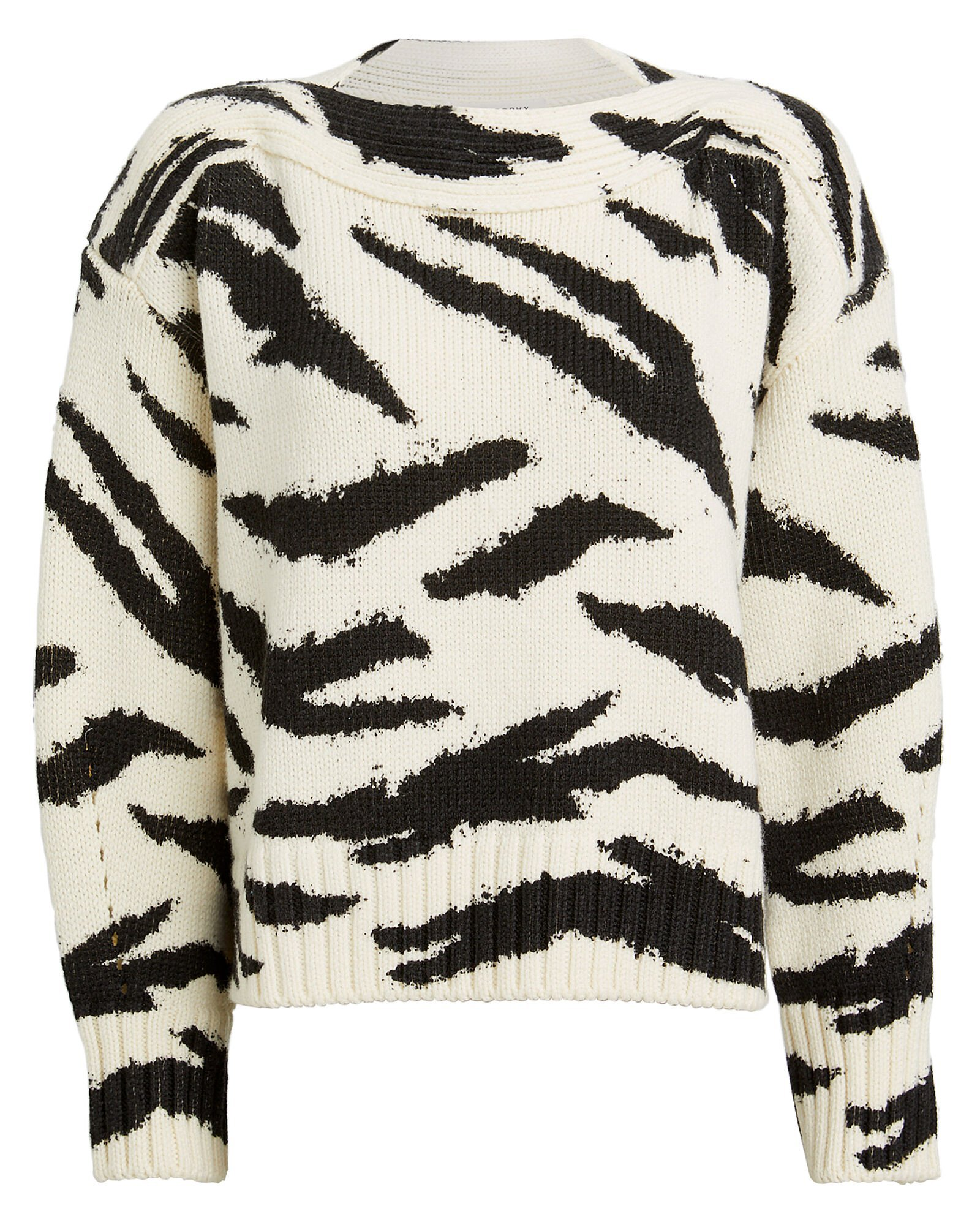 Zebra Merino Wool Sweater