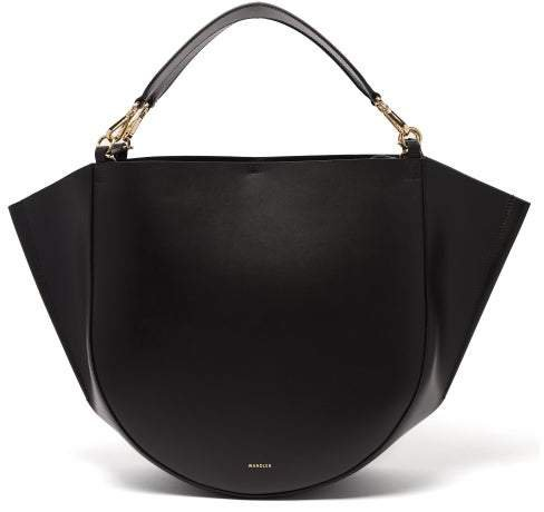 Mia Large Leather Tote Bag - Womens - Black