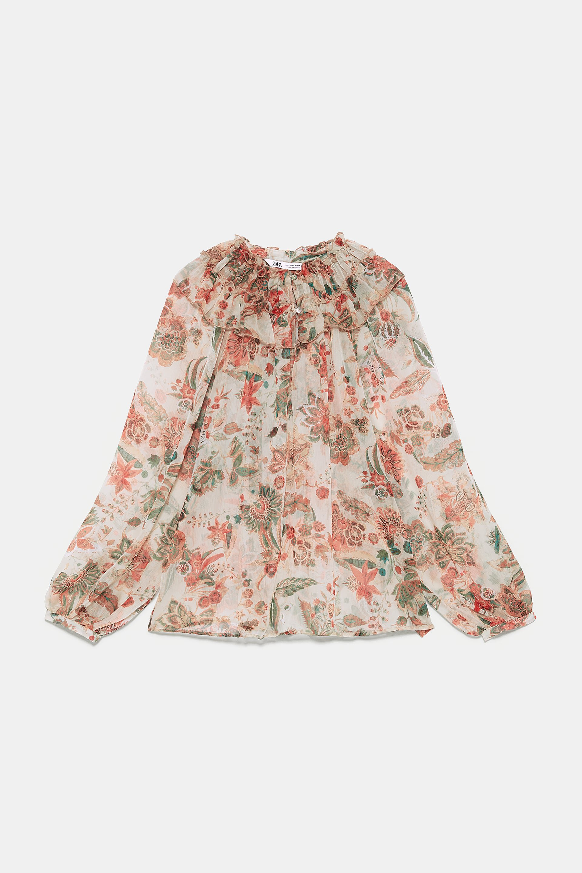 FLORAL PRINT BLOUSE WITH RUFFLE - View All-SHIRTS | BLOUSES-WOMAN | ZARA United States