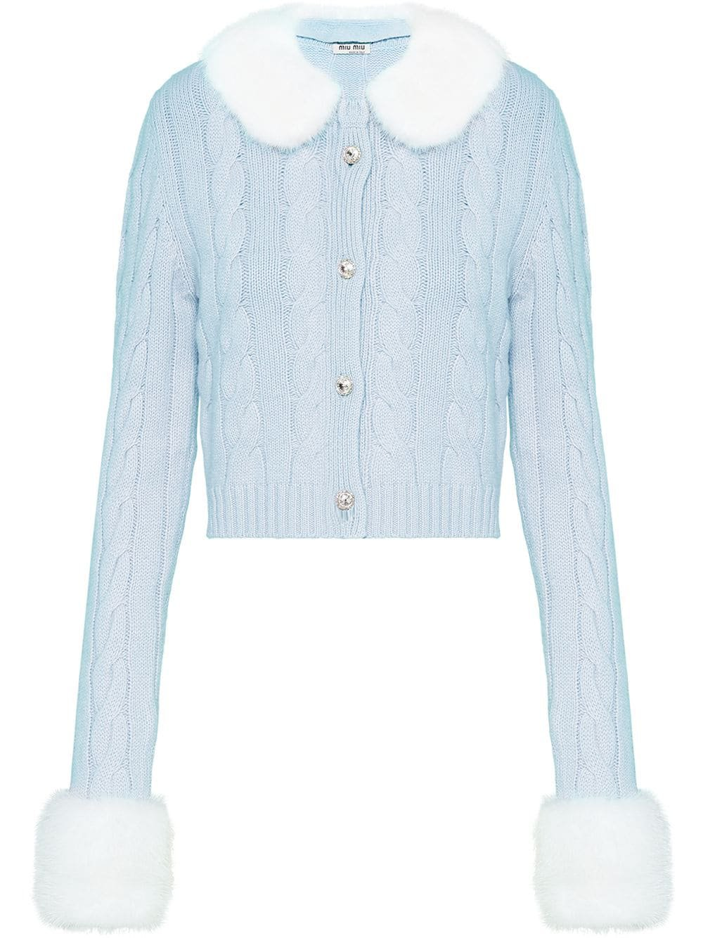 Miu Miu Fur Trim Cardigan
