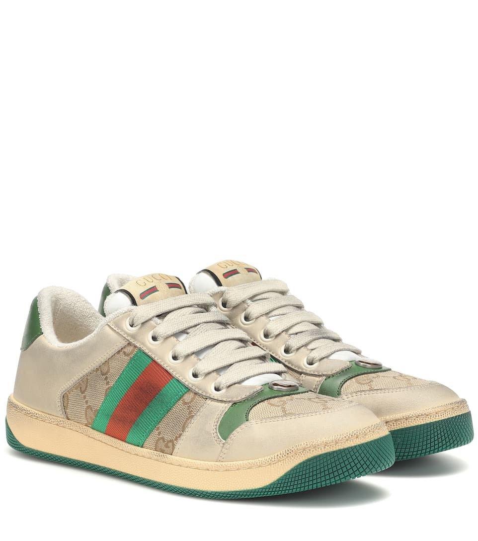 Screener Leather Sneakers - Gucci | Mytheresa