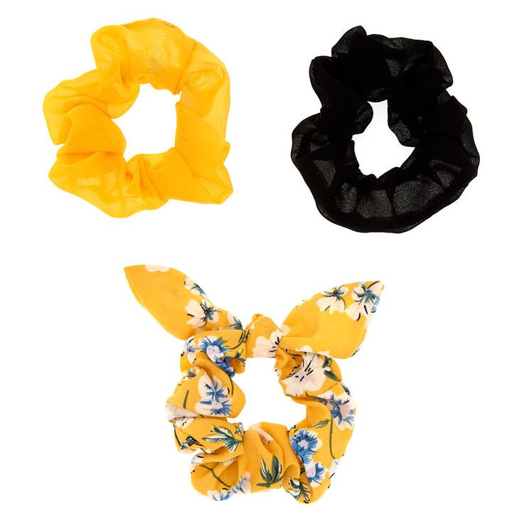 ponytail with yellow scrunchie - Google Search