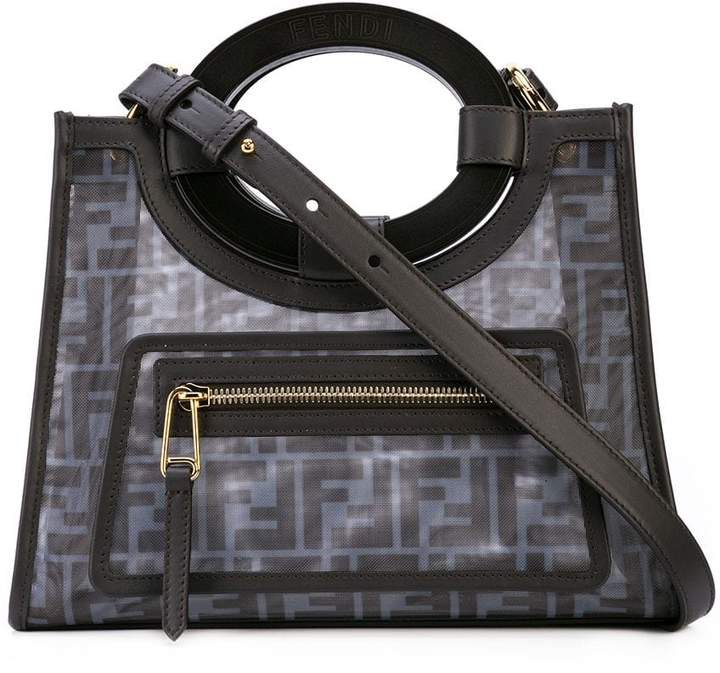 FF calf-leather detailed tote