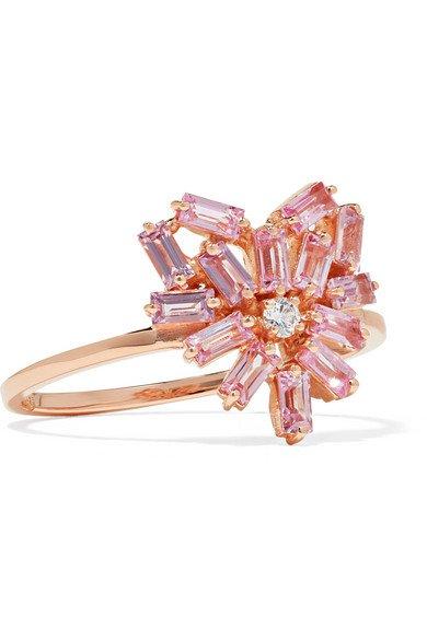 Suzanne Kalan | 18-karat rose gold, sapphire and diamond ring | NET-A-PORTER.COM