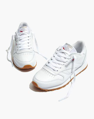 Reebok® Classic Sneakers in White Leather