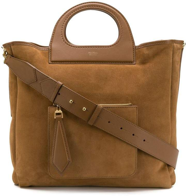 structured handle reversible tote