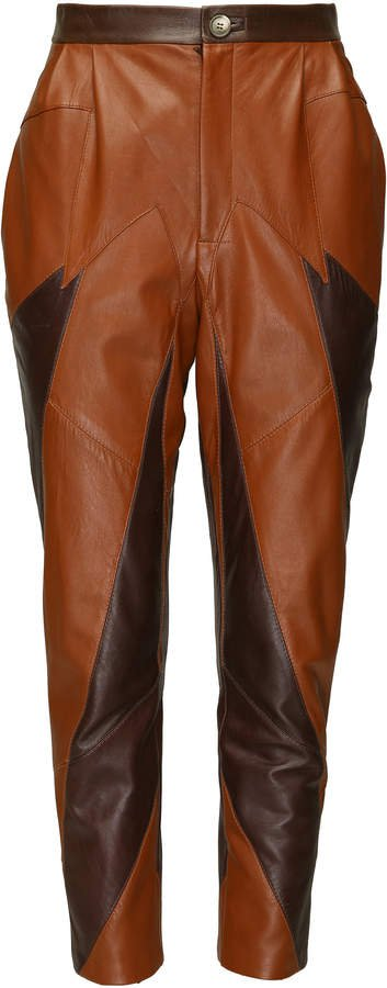 SITUATIONIST High-Rise Leather Paneled Pant