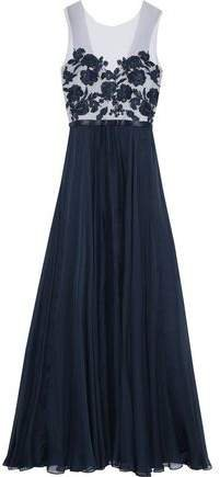 Embellished Tulle And Silk-chiffon Gown