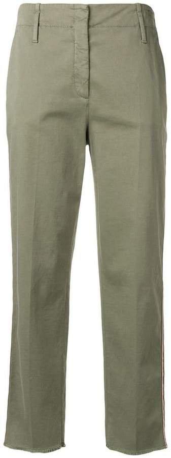 Luisa Cerano side stripe trousers