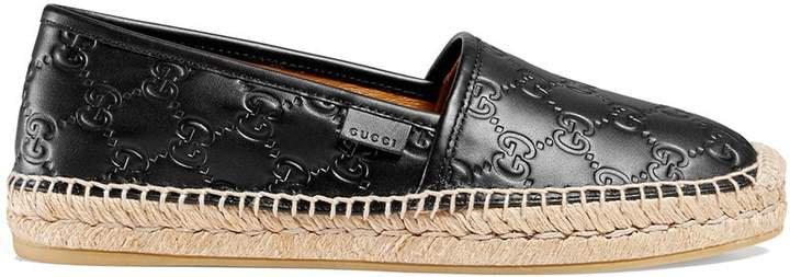 Signature leather espadrilles