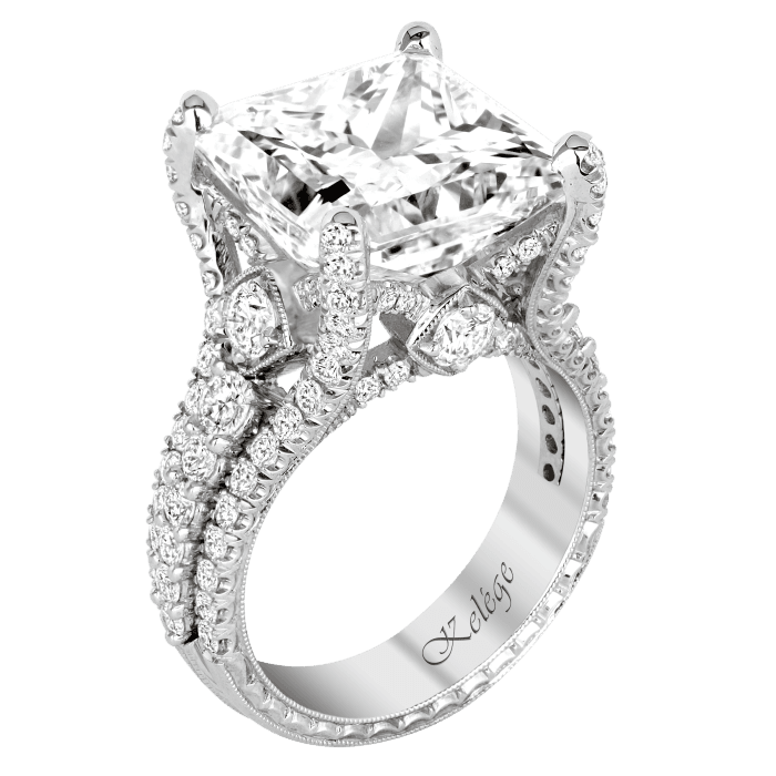 KPR 752 – Platinum Engagement Ring | Jack Kelége Designer Diamond Engagement Rings, Unique Engagement Rings, Wedding Bands, Colored Diamonds and Fine Jewelry