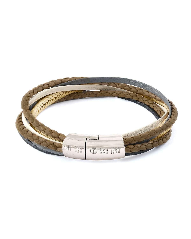 Tateossian Multi-Strand Leather Cobra Bracelet