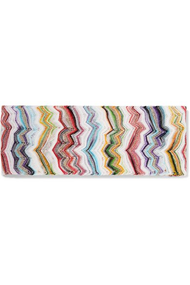 Missoni | Mare metallic crochet-knit headband | NET-A-PORTER.COM