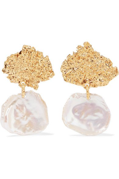 Pacharee | Moss gold-plated pearl earrings | NET-A-PORTER.COM