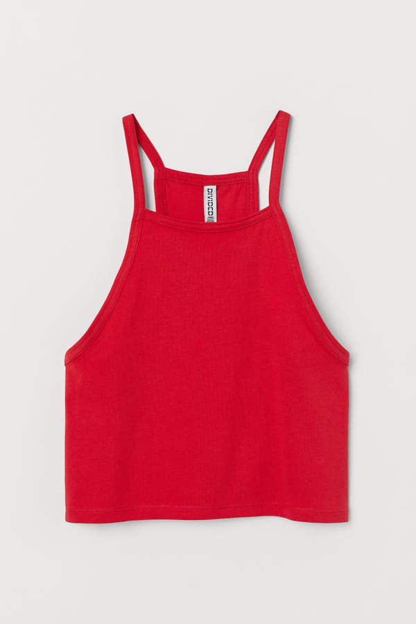 Short Camisole Top - Red