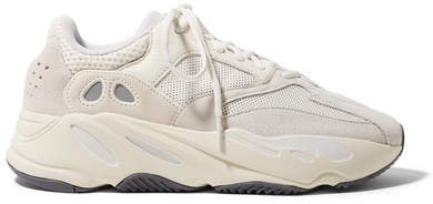 Yeezy Boost 700 Suede, Leather And Mesh Sneakers - Off-white