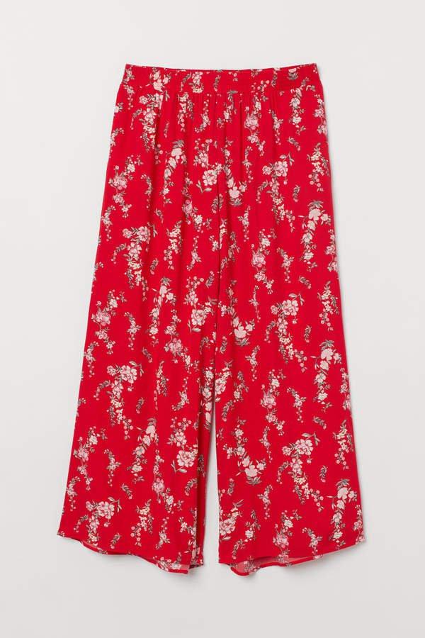 H&M+ Wide-leg Pants - Red