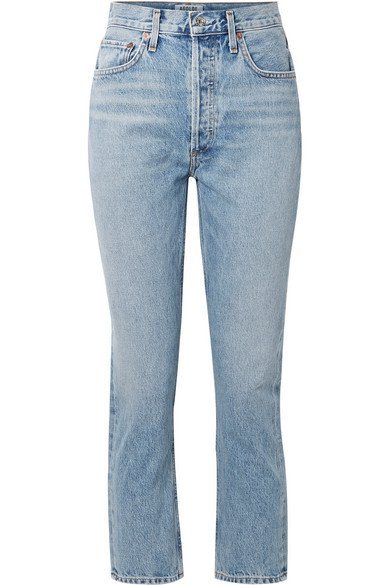 AGOLDE | Riley cropped high-rise straight-leg jeans | NET-A-PORTER.COM