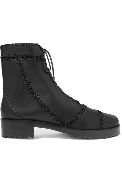 Alexandre Birman | Whipstitched leather ankle boots | NET-A-PORTER.COM