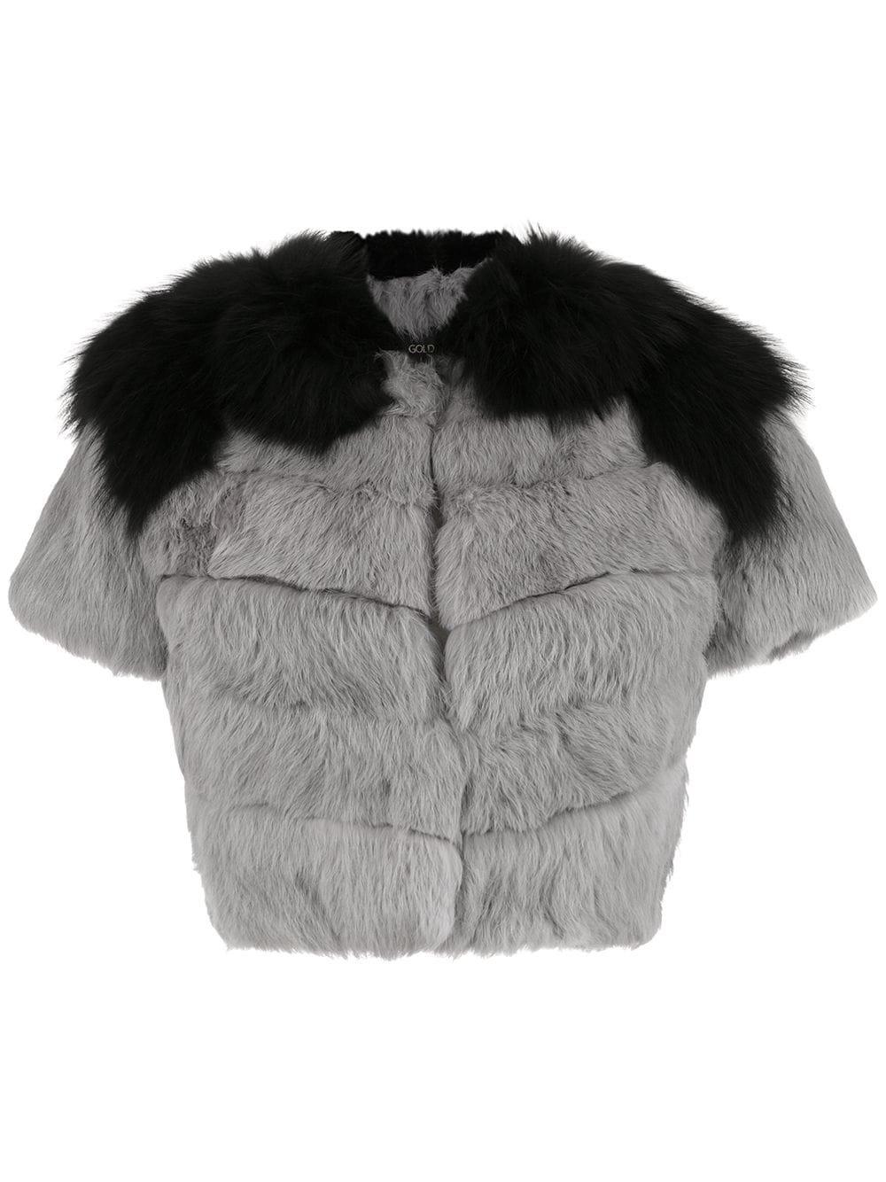 Andrea Bogosian fur blouse