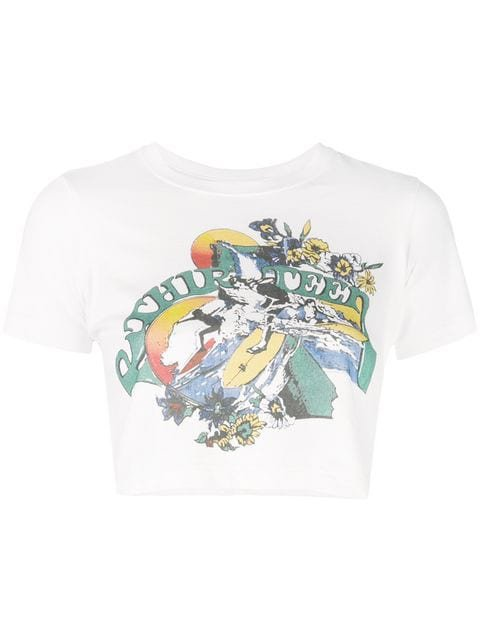 R13 cropped graphic T-shirt $165 - Buy Online - Mobile Friendly, Fast Delivery, Price