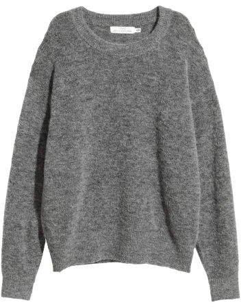 Fine-knit Wool-blend Sweater - Black