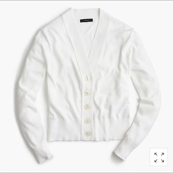 cropped white cardigan j crew - Google Search